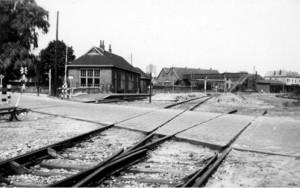 Staion spoorwegen Oldenzaal tussen de Bomen