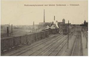 Station met voetbrug ca 1900 a(voetbrug 1927-1950)